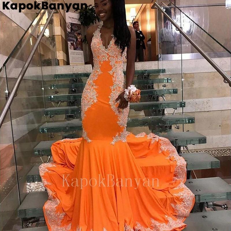 Orange Mermaid Dress