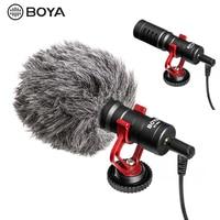BOYA BY MM1 Microphone On Camera Video Recording Mic for Smartphone Canon Nikon Sony DJI Osmo DSLR Camera