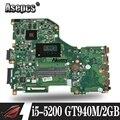 E5-573G E5-573 материнская плата For Acer Aspire E5-573G I5-5200U GT940M-2 ГБ DA0ZRTMB6D0 trabalho de тест 100% оригинал