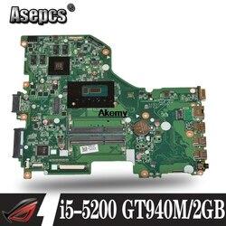 E5 573G E5 573 płyta główna płyta główna dla Acer Aspire E5 573G I5 5200U GT940M 2 GB DA0ZRTMB6D0 trabalho de Teste 100% oryginalny|Płyty główne|   -