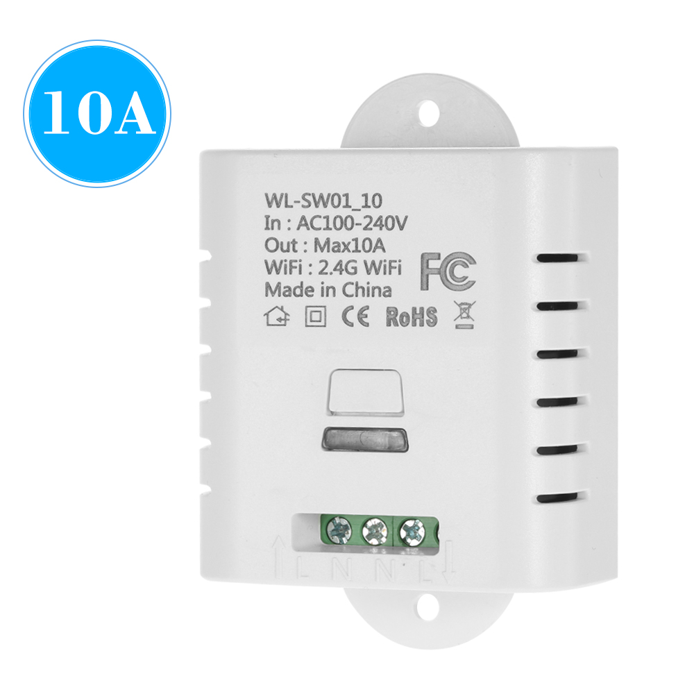 WIFI Smart Switch 10A Wireless Light Timer Switch Phone APP Remote Control Compatible With Alexa Google Home Voice Control