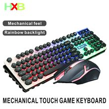 Keyboard Mouse Backlit Gaming Mouse And Keyboard Waterproof Luminous Mouse Keyboard Punk Keyboard And Mouse Combo For PC Gamer