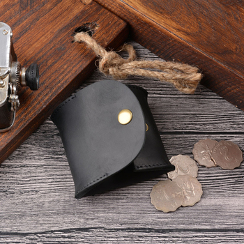 Genuine Cow Leather Coin Purse Mini Small Wallet Female Real Cow Leather Vintage Design Individuation Men Women Coin Bag