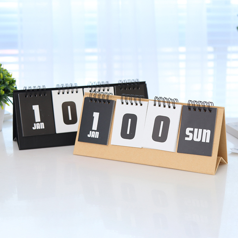 Perpetual Calendar 2020 College Entrance Examination Reusable Countdown Calendar Summer Vacation 100-day Plan Desk Calendars