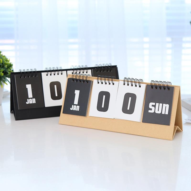 Perpetual Calendar 2020 College Entrance Examination Reusable Countdown Calendar Summer Vacation 100-day Plan Desk Calendars