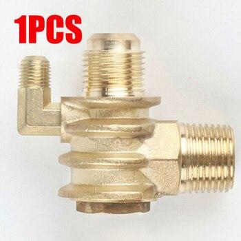 Acoplamiento de púas de válvula de retención de 3 puertos, accesorio de manguera de aleación de Zinc, herramientas de compresor de aire de taller ROSCADO MACHO, adaptador de articulación de conector