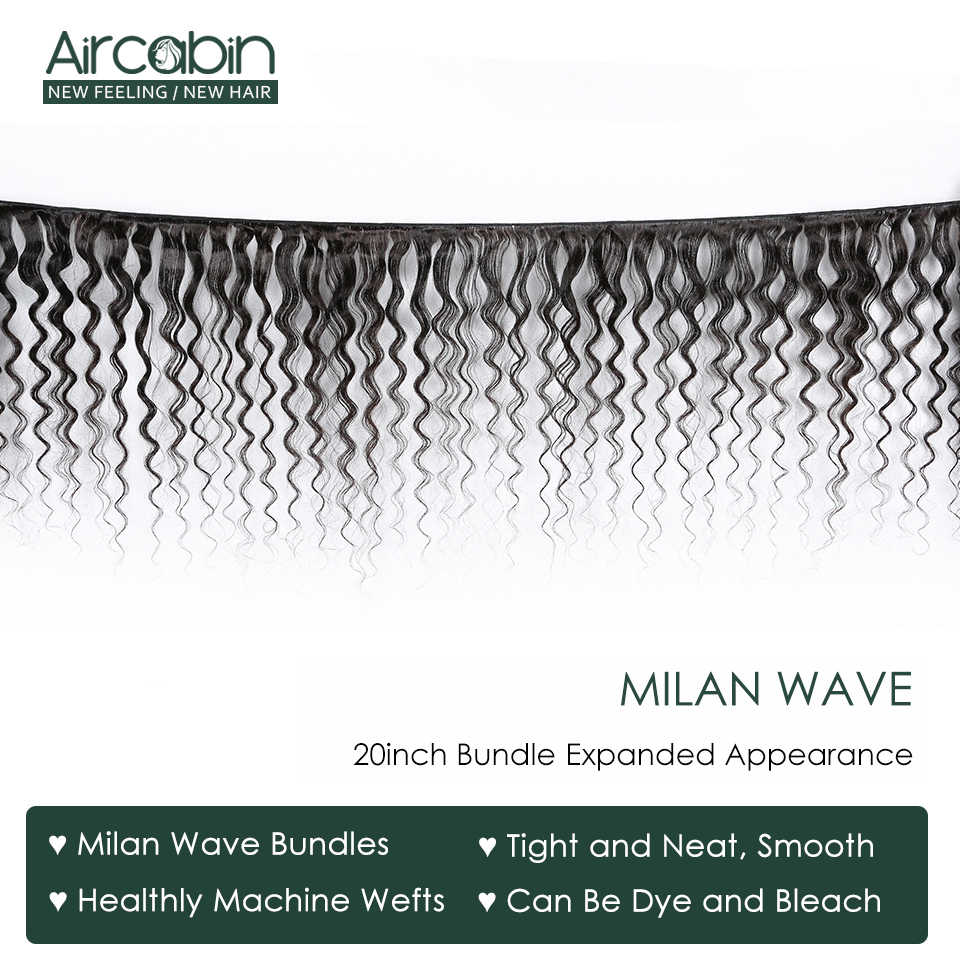 Aircabin Milan Wave Bundels Peruaanse 100% Remy Human Hair Extensions 1/3/4 Bundels Dubbele Inslag Weave Natual kleur 8-26 Inch