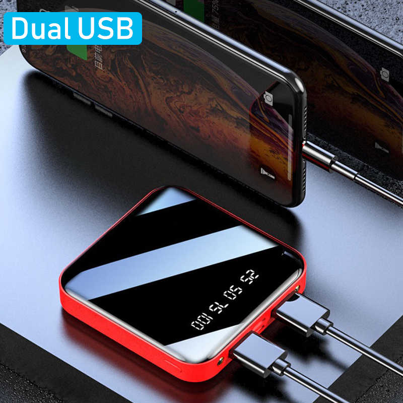 12000mah Power Bank For iPhone8 XiaomiMi mini Powerbank Pover Bank Charger Dual Usb Ports External Battery Poverbank Portable