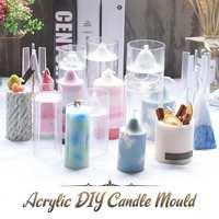 1 sztuk wielokrotnego użytku forma na świeczkę Handmade Craft moda boże narodzenie świeca zapachowa gipsu do foremka na świece DIY domowe foremka do mydła