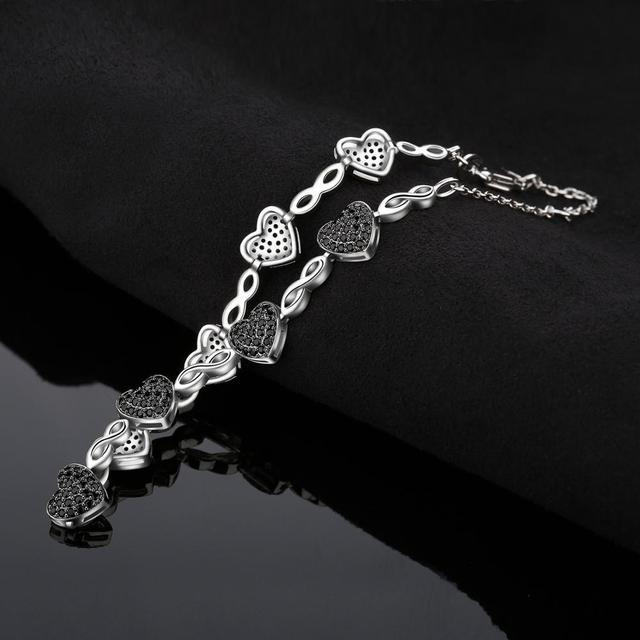Black Heart Spinel Bracelet