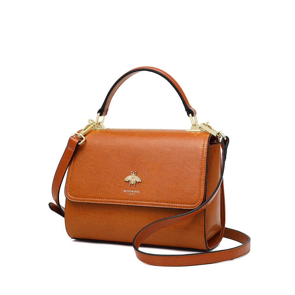 Cowhide Women Handbags  Simple Square Pack Brushed Female Crossbody Single Shoulder Bags Large Capacity Retro
