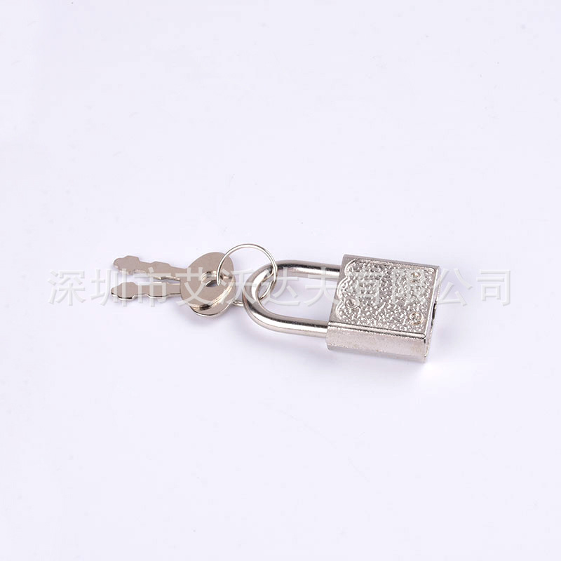 Small Lock Manufacturers Direct Selling Wen Ju Suo Laptop Notebook Metal Small Lock Coin Bank Small Padlock Square Fingerprint L