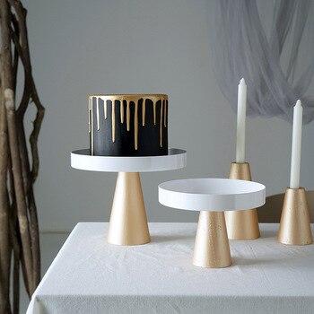 Pés altos bolo stands base de madeira ornamento armazenamento ferramentas bolo de casamento para fondant cupcake casa armazenamento suportes wy51228