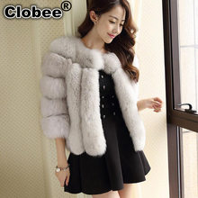 2020 winter women brand clothing imitated mink fur short coat Female 2020 luxury thick Furry faux fur cardigans jacket F11(China)