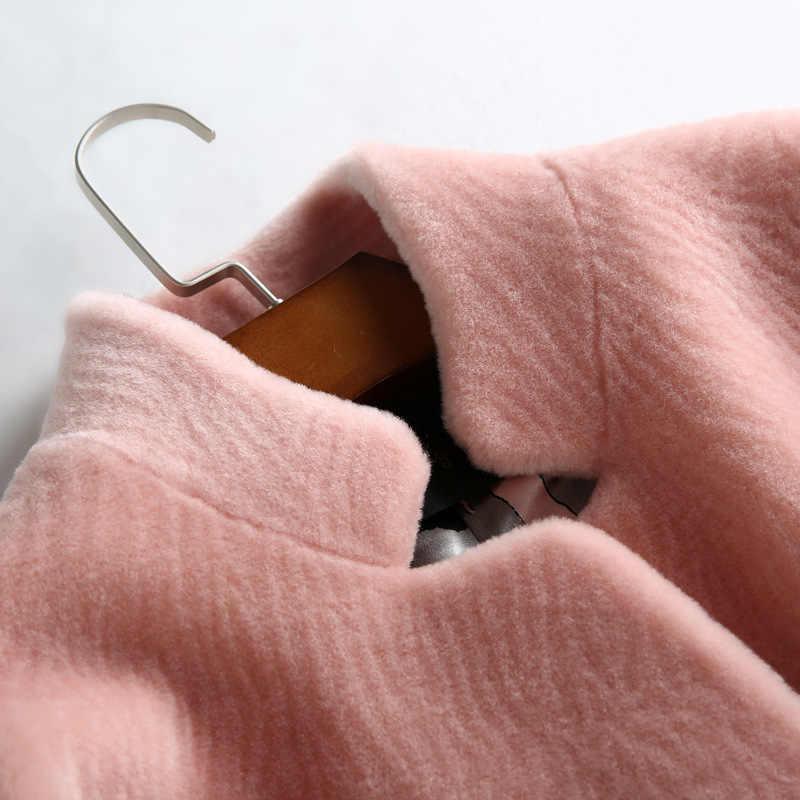 コート毛皮の女性の自然ウール女性ジャケット羊ムートンコート女性 2020 秋冬ロングトレンチジャケット YJRLJ s s