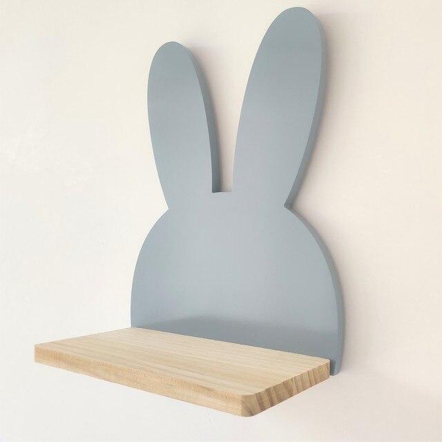 מדפי עץ מעוצבים לחדרי ילדים  1
