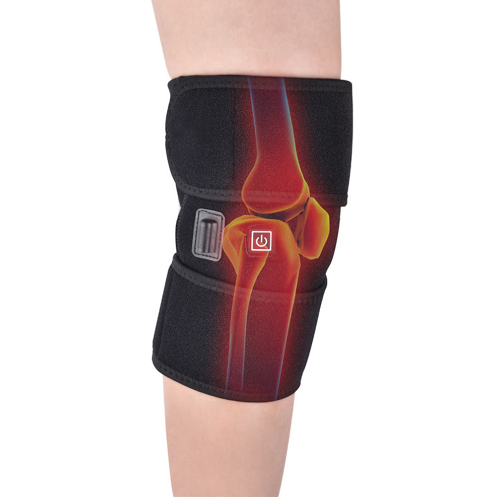 Men Women USB Heated Protector Non Slip Thermal Therapy Pain Relief Wrap Knee Brace Pad Electric Arthritis Health Care Guard
