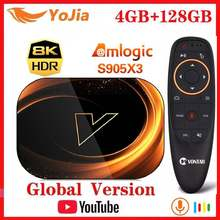 Vontar X3 inteligente 8K TV caja Android 9,0 Amlogic S905X3 Max 4GB RAM 128GB ROM Set TOP Box 1000M Dual Wifi Youtube reproductor de medios