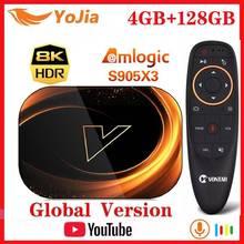 Vontar X3 Smart 8K Tv Box Android 9.0 Amlogic S905X3 Max 4Gb Ram 128Gb Rom Set Top box 1000M Dual Wifi Youtube Media Player