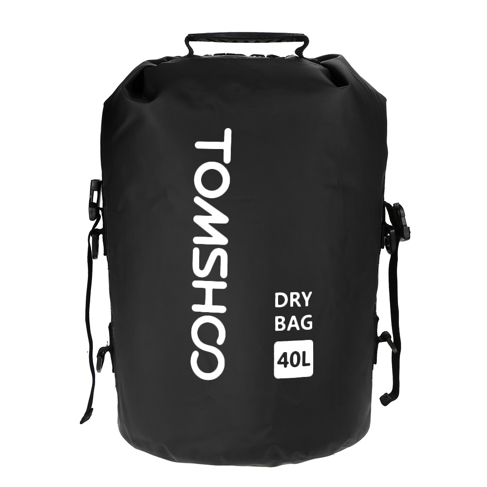 TOMSHOO 40L Fishing Dry Bag Outdoor Trekking Waterproof Bag Camping Sack Storage Water Proof Bag For Travelling Rafting Boating