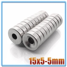 Neodymium-Magnet Round Magnetic-Imanes-Disc Ndfeb Permanent Super-Powerful Strong 15x5-Hole-5