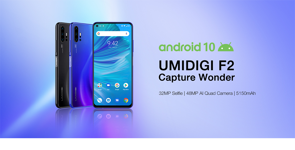 "Hb09c15b3fe8a45c3a99cb52785cc0c08P Pre-sale UMIDIGI F2 Android 10 Global Version 6.53""FHD+6GB 128GB 48MP AI Quad Camera 32MP Selfie Helio P70 Cellphone 5150mAh NFC"
