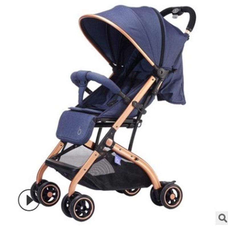 Baby stroller bi-directional lightweight high landscape can sit reclining folding portable umbrella