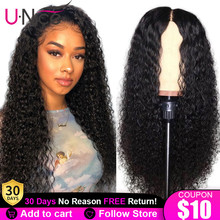 Unice Hair Lace Closure Human-Hair-Wigs Lace-Front Glueless Pre-Plucked Curly with Baby