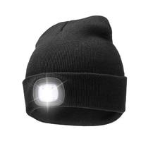 Klettern Caps LED-Scheinwerfer Wiederaufladbare Elastische Universal Warme Hut für Outdoor Radfahren Grillen Auto Reparatur Camping Caps