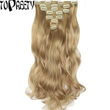 TOPREETY Heat Resistant Synthetic Hair Fiber Body Wave 7pcs/set Clip in Hair Extensions 7008 parnali dhar chowdhury and c emdad haque heat wave in canada