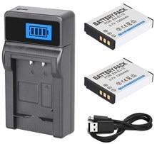 Аккумулятор 2 шт + зарядное устройство для цифровой камеры Nikon Coolpix S9050, S9100, S9200, S9300, S9400, S9500, S9600, S9700, S9700s, S9900