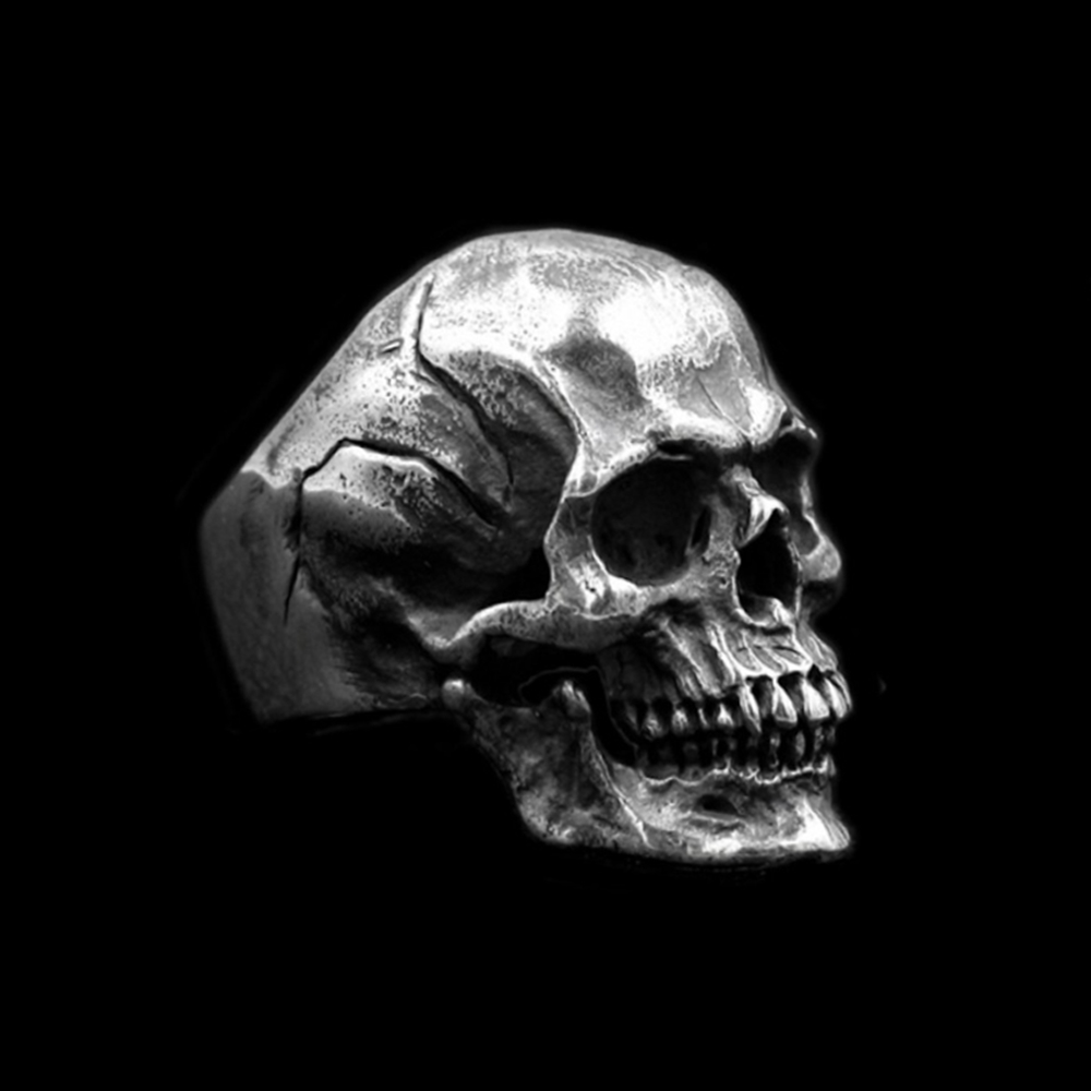 Bague tête de mort acier inoxydable  3