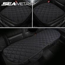 Peluş araba klozet kapağı seti evrensel araç koltuğu yastık Mat 4 mevsim sandalye koruyucu ped oto iç aksesuarları araba ürünleri
