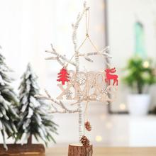 2020 Number Wooden Christmas Pendant Xmas Tree Hanging Ornament Home Garden wall door furniture Christmas tree Decoration