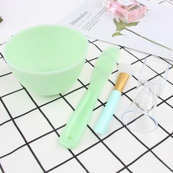Silicone Mask Brushes 4 Set Bowl Measuring Cup DIY Powder Seaweed Mask Tools Handle Multi-Function Brush Face Mud Mixing Brush 1
