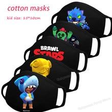 Mascarilla Brawling Star de algodón para niños y niñas, máscara facial lavable reutilizable, regalo para chico y Mujer