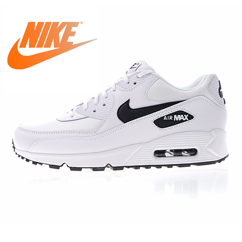 Original authentique NIKE AIR MAX 90 essentiel chaussures de course pour hommes Sport baskets de plein AIR chaussures de Designer athlétique 325213-131