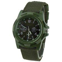 Sergeant waterproof watch woven canvas strap men's luminous watch Personalized Leather Wrist Bracer Japan Movement Watch