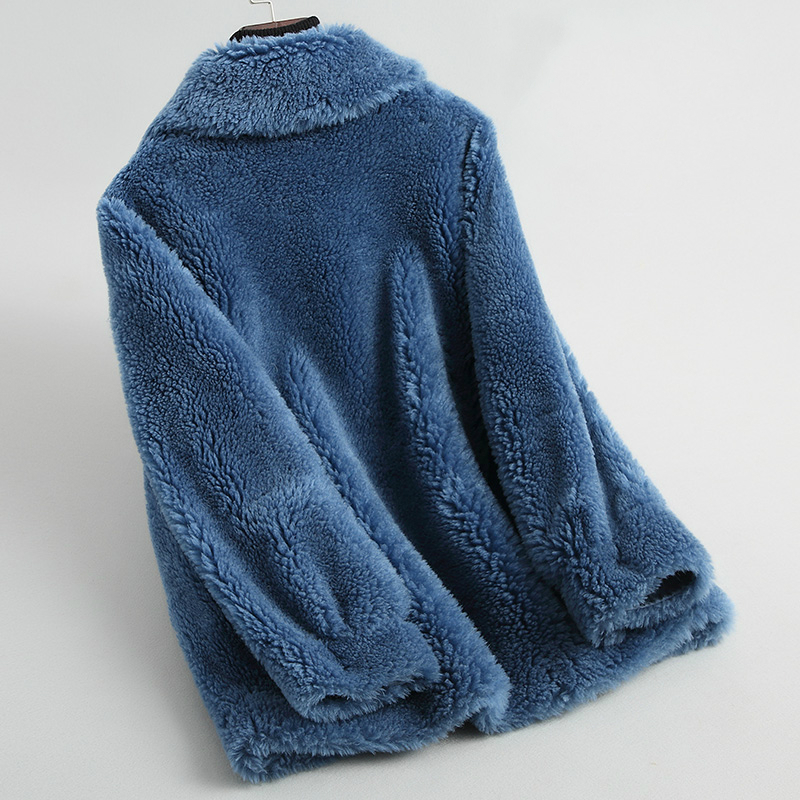 Wool Real Coat Female Sheep Shearing Fur Coats 2020 Fashion Winter Jacket Women Thick Warm Outerwear Abrigo Mujer LR0742 S