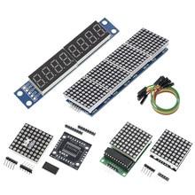MAX7219 Dot Matrix Module Microcontroller Display Module MCU LED Display Control Module For Arduino 5V DIY Kits 4 in 1 Red/Green