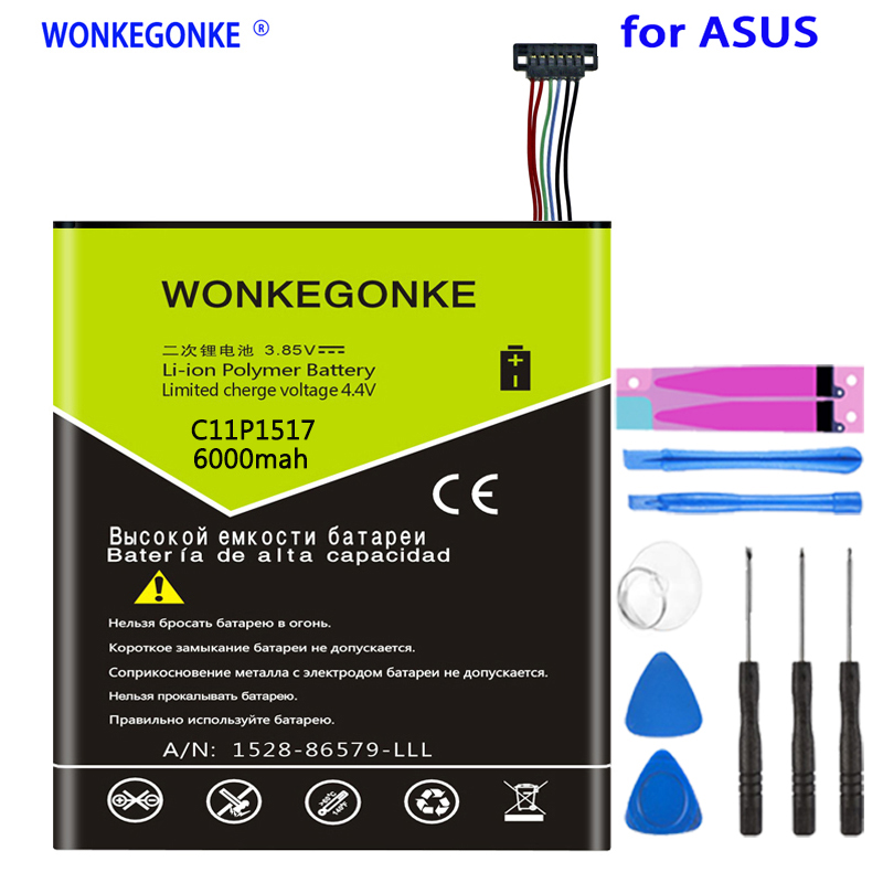 WONKEGONKE battery C11P1517 For ASUS ZENPAD 10 Z300M Z300CNL 6B P00C Batteries battery image