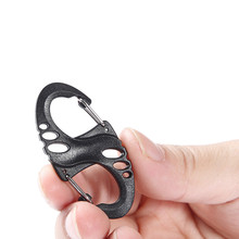 8 S Shape Snap Hook Carabiner Biner Clip Outdoor Camping Backpack Kits Hanger Buckle Quick Release Keychain Key Ring