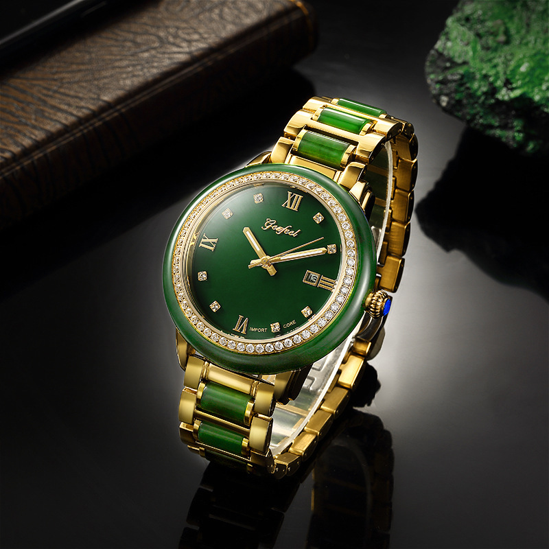 2020 New Sale Wholesale Set Auger Couple Watches Hetian Jade Mechanical Automatic One Undertakes To Watch