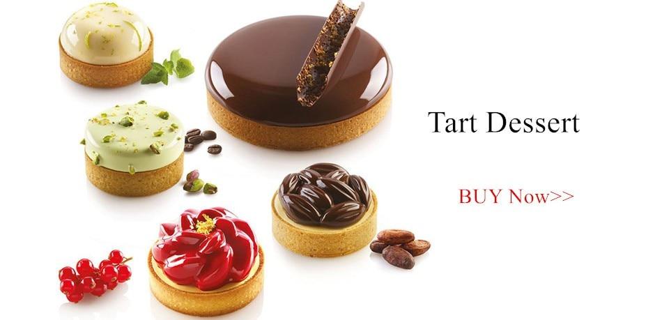 Tartlet Molds French Dessert Mousse Fruit Pie Tart Ring Quiche Cake Mold Tartelettes au Citron Tarte Tatin Cheese Pan-Size 4XL 2 Pieces
