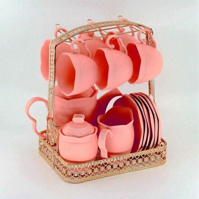 Porte-tasse porte-café porte-gobelet à café ensemble de thé support vaisselle organisateur forgé 449C