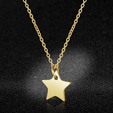 100% Stainless Steel Star Charm Necklace Never Tarnish Steel High Polished Laser Cutting Stars Pendant Women Necklaces(China)
