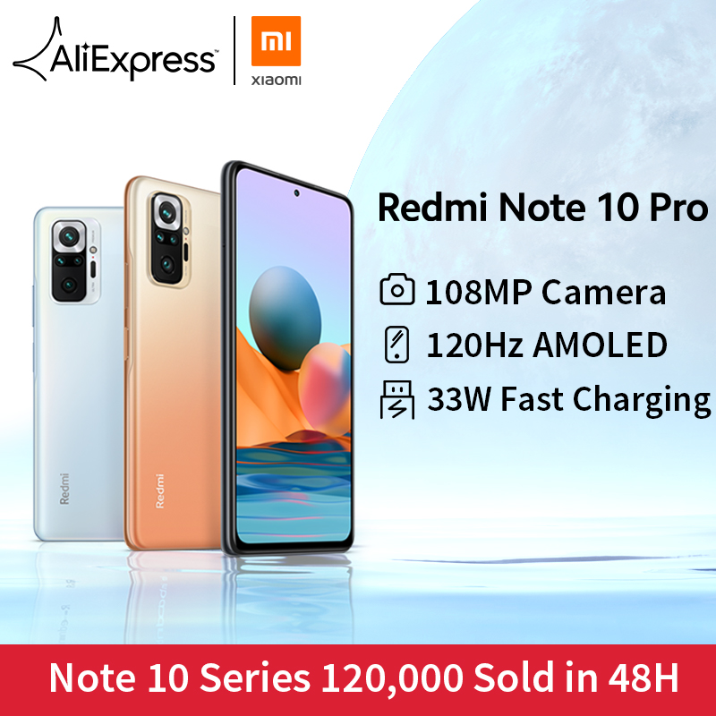 [ワールドプレミア在庫] グローバルバージョンxiaomi redmi注10プロスマートフォン108MPカメラsnapdragon 732グラム120 60hz amoledディスプレイ|携帯電話| - AliExpress