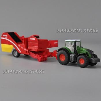 Siku 1808 diecast farm veículo modelo brinquedo 187 trator com colheitadeira de batata réplica em miniatura