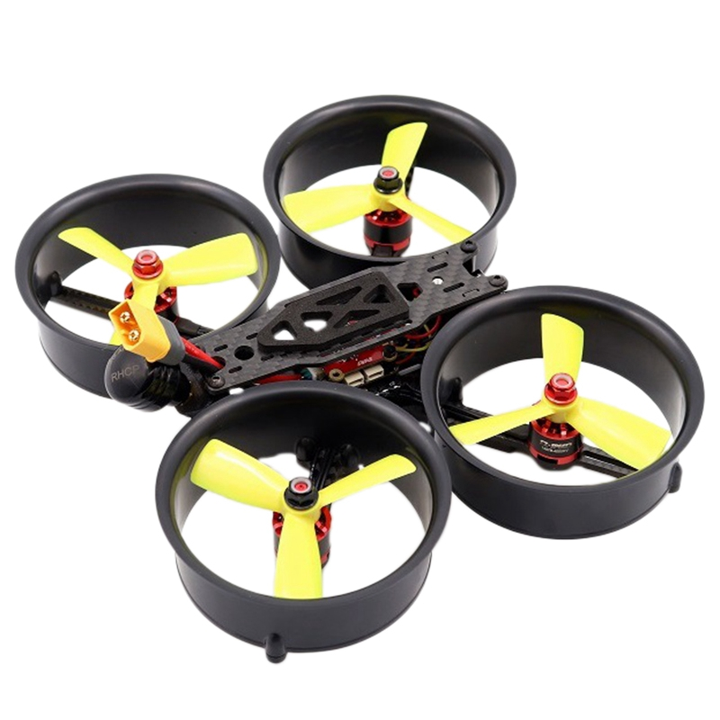 149Mm 3-Inch Culvert Carbon Fiber Through Aircraft FPV Indoor Aerial Photography UAV 4-Axis Anti-Crash And Anti-Collision Frame