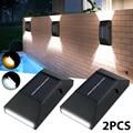 Lamps for Garden Decor 2pcs LED Solar Wall Light Powered Lamps Wall 6LED Street Lighting Lamp Solar Wall Light